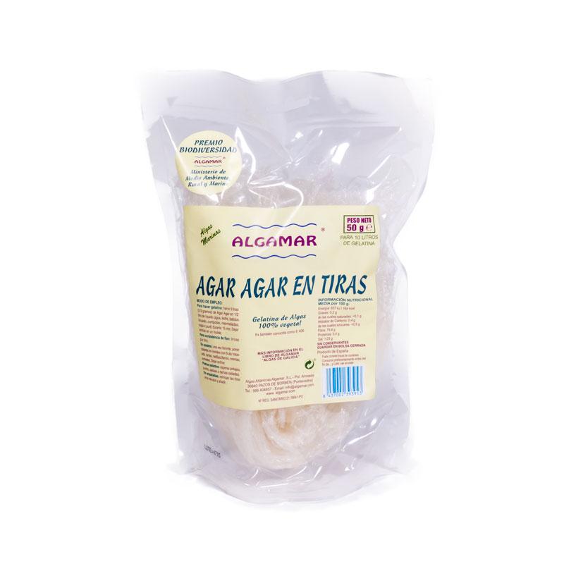 Algas agar agar en tiras 50 gr Algamar