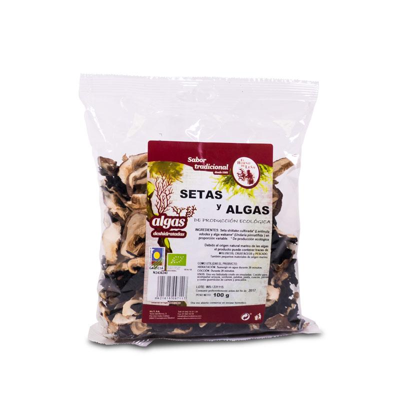 Algas y shiitake 100 gr. Horno de leña