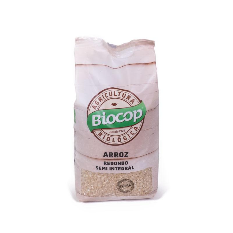 Arroz redondo semiintegral 1kg Biocop