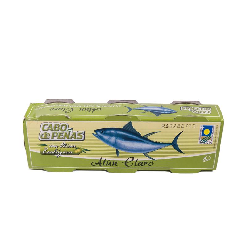 Atun en aceite de oliva 80gr x 3 u. Cabo de Peñas