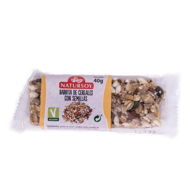 Barrita cereales-semillas 40gr Natursoy