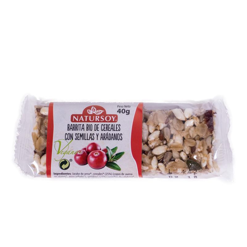 Barrita cereales-semillas-arandanos 40gr Natursoy