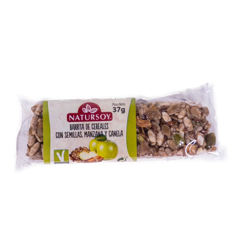 Barrita cereales-semillas-manzana 40gr Natursoy
