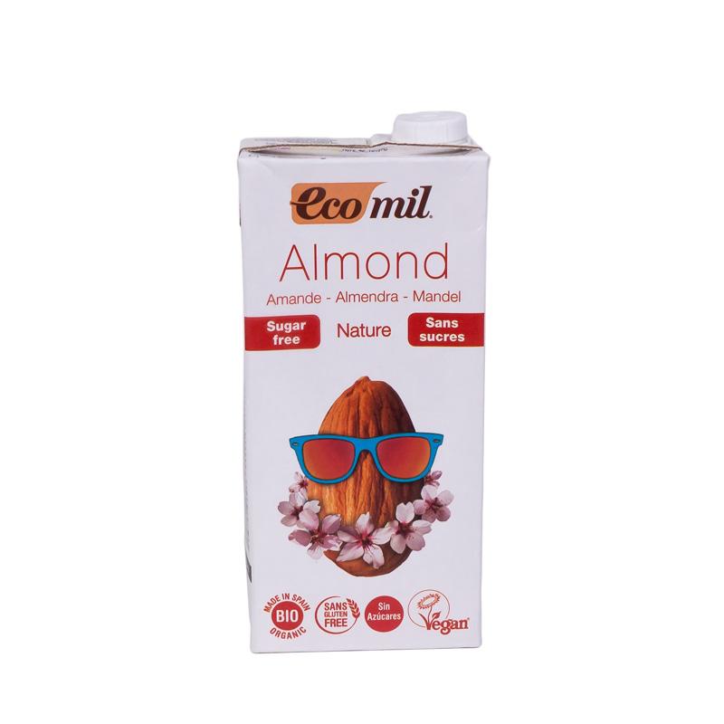 Bebida almendra natural 1L. Ecomil