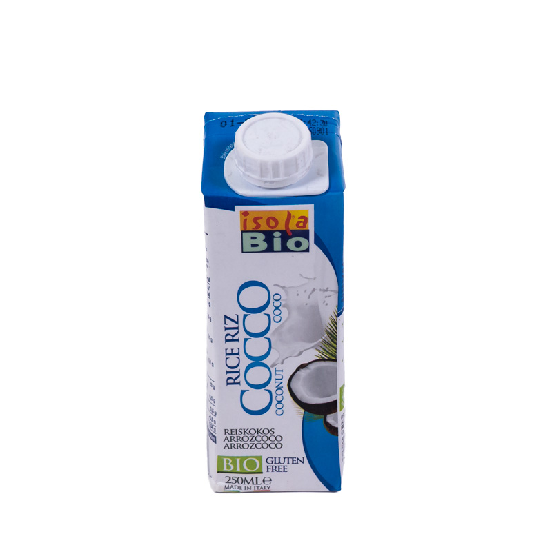 Bebida de arroz y coco 250 ml. Isola