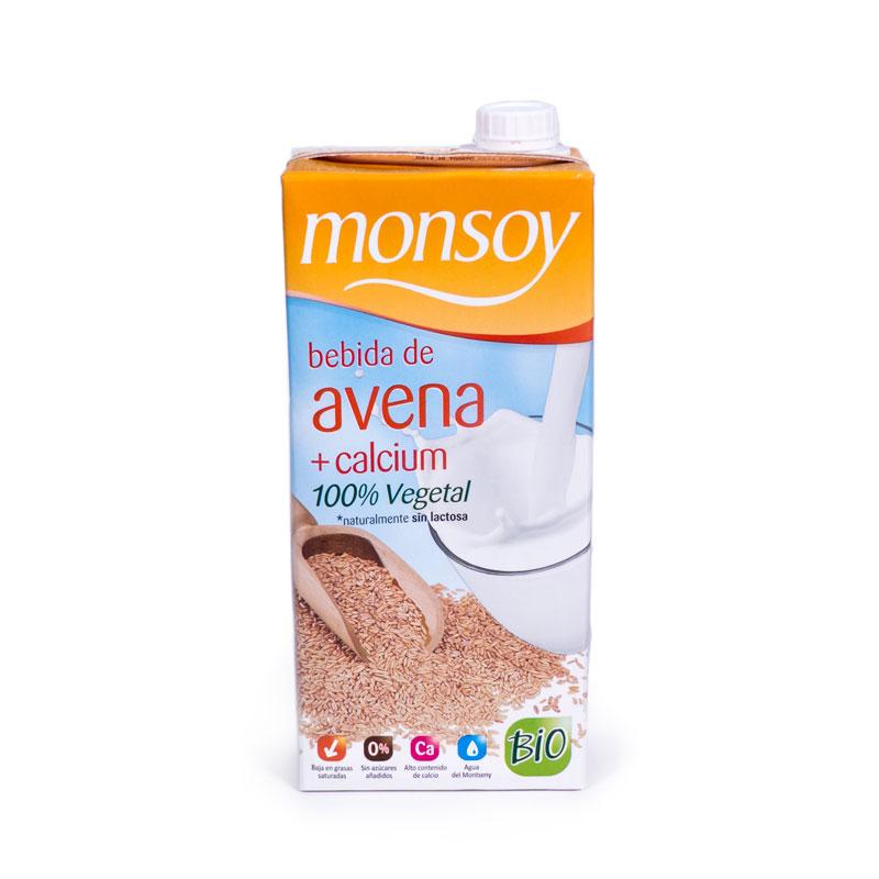 Bebida de avena calcio 1L Monsoy