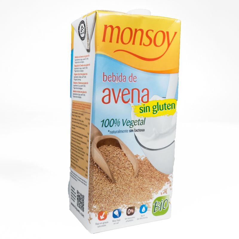 Bebida de avena sin gluten 1L. Monsoy