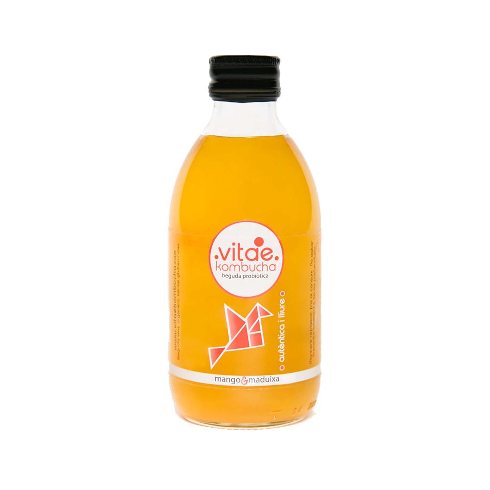 Bebida kombucha mango/fresa 250 ml. Vitae