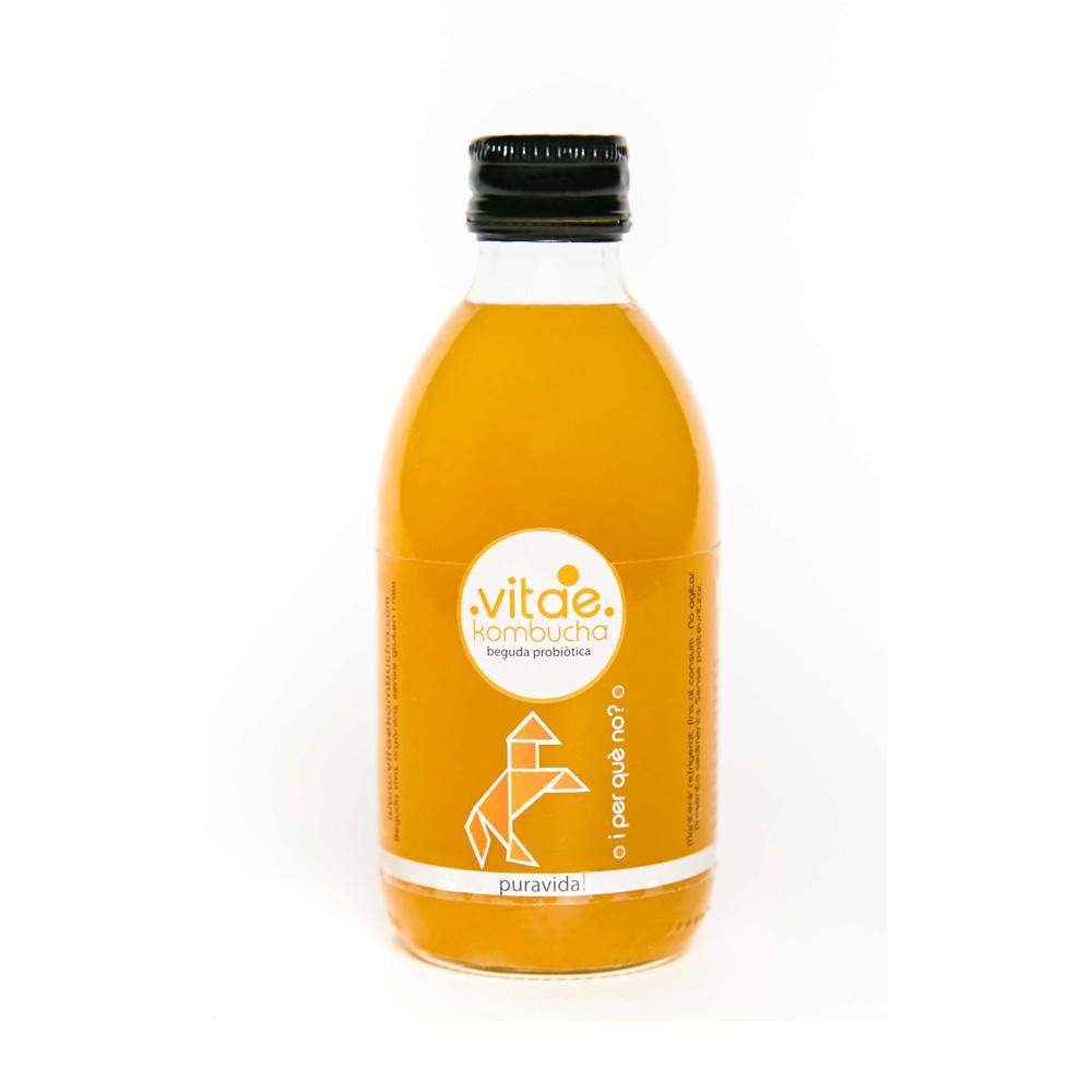 Bebida kombucha pura vida 250 ml. Vitae