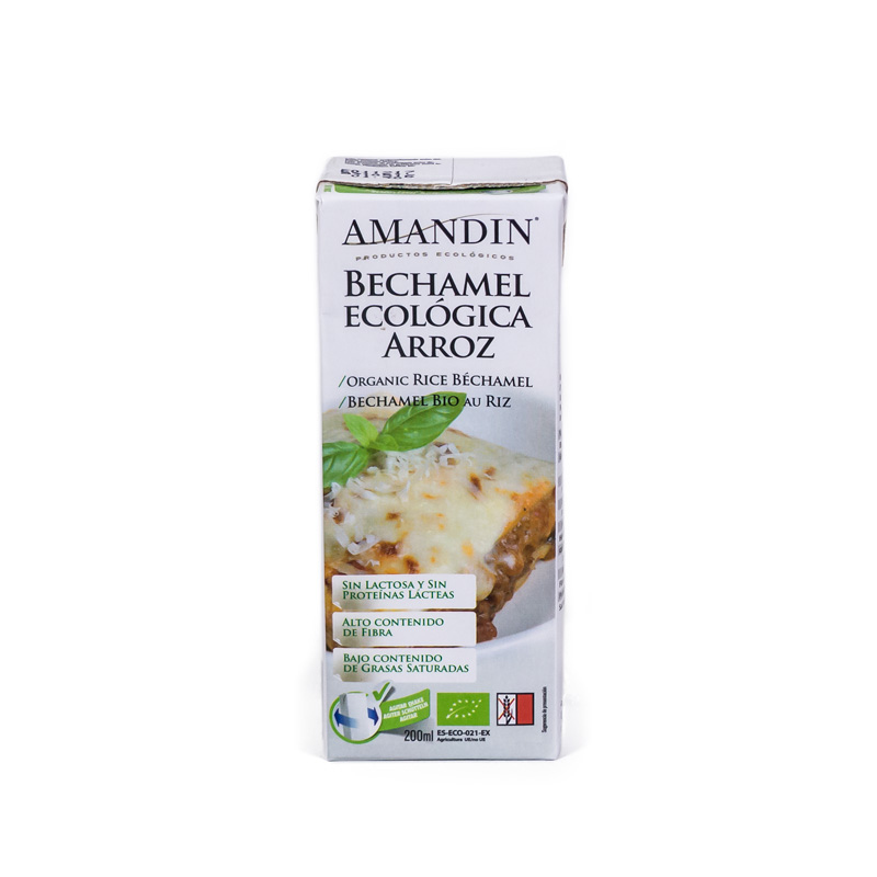 Bechamel de arroz 200 ml Amandin