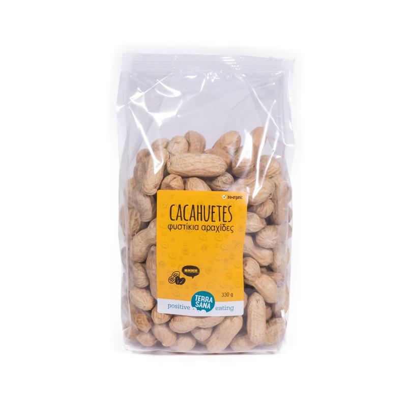 Cacahuetes tostados con cáscara 330 gr Terrasana