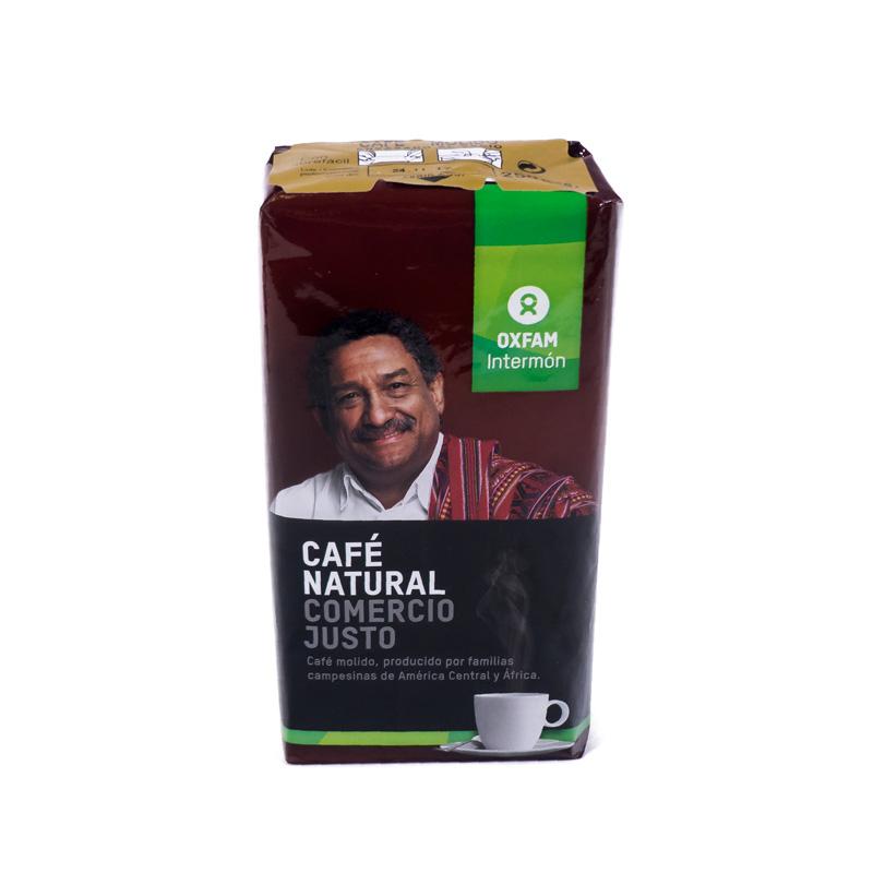 Café molido natural 250 gr.  Intermon