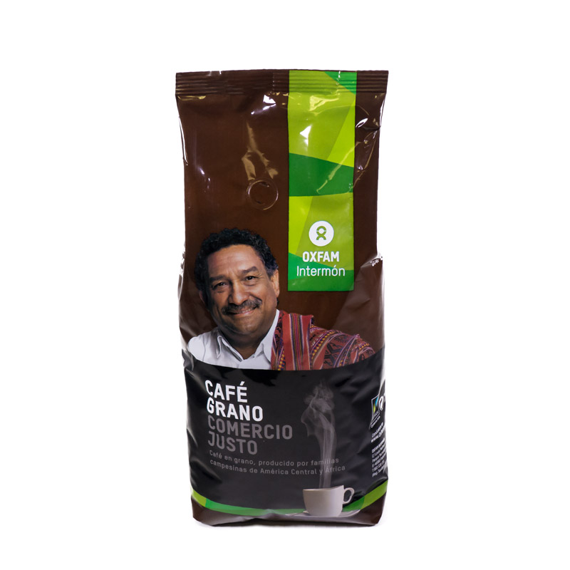 Café natural en grano 1 Kg. Intermon