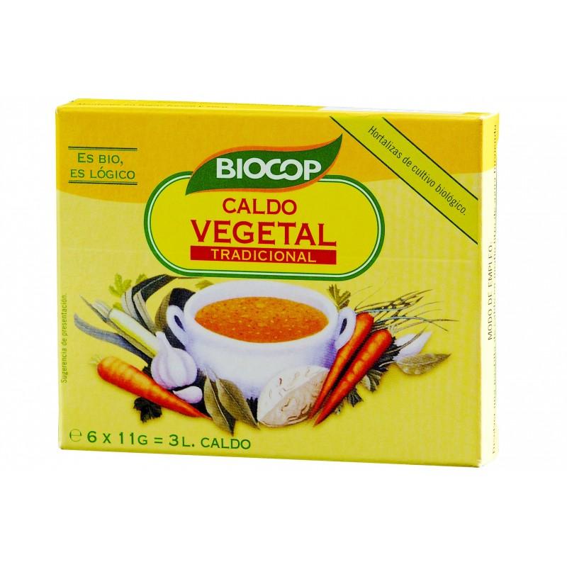 Caldo vegetal cubitos 66gr Biocop