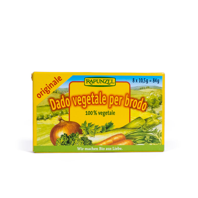Caldo vegetal cubitos 84 gr. Rapunzel