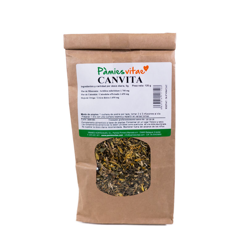 Canvita (cáncer) granel 120 gr Pàmies