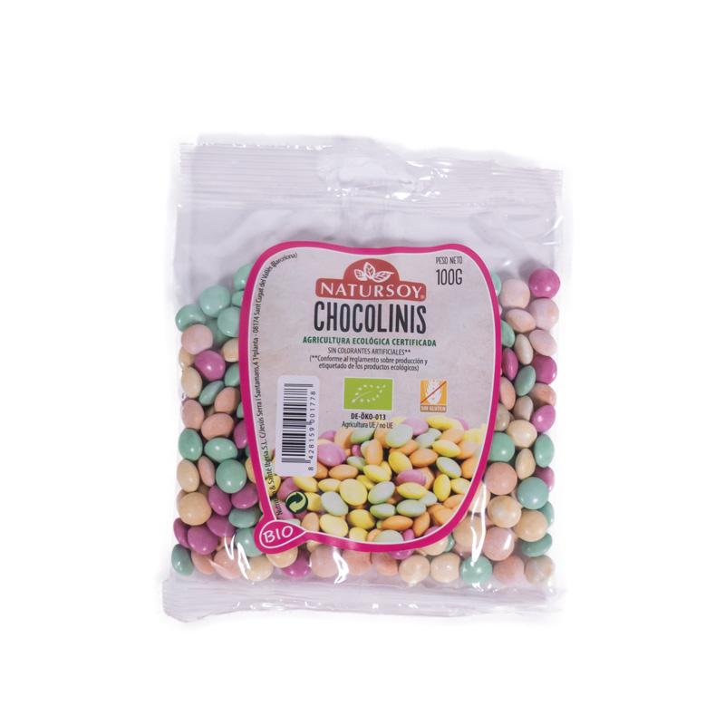 Caramelo chocolini 100 gr Natursoy