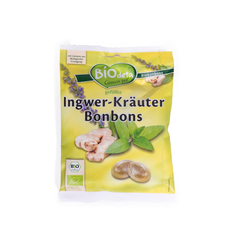 Caramelos de jengibre y hierbas 75 gr Biodeta