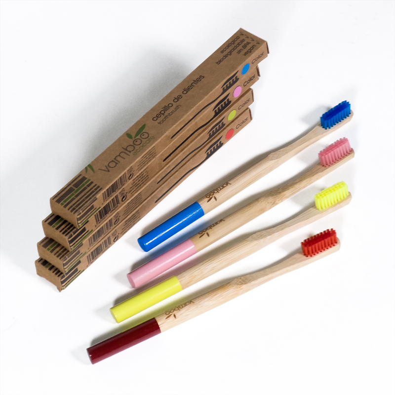 Cepillo dental bambu medio Ecocare