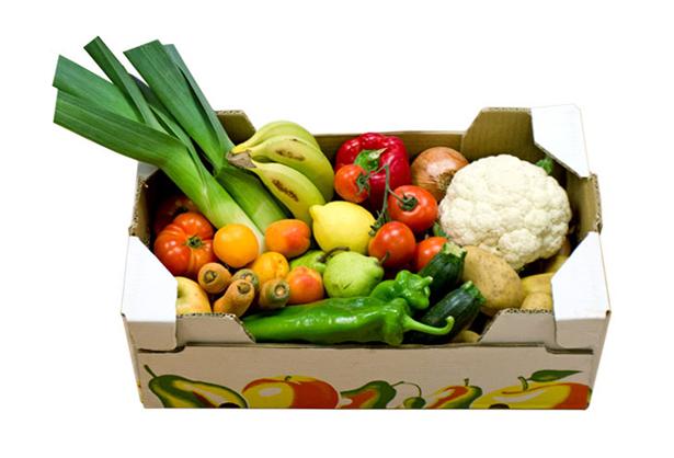 Cestas de frutas y verduras con Productos Ecológicos