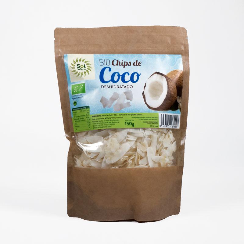 Chips de coco 150 gr. Sol natural