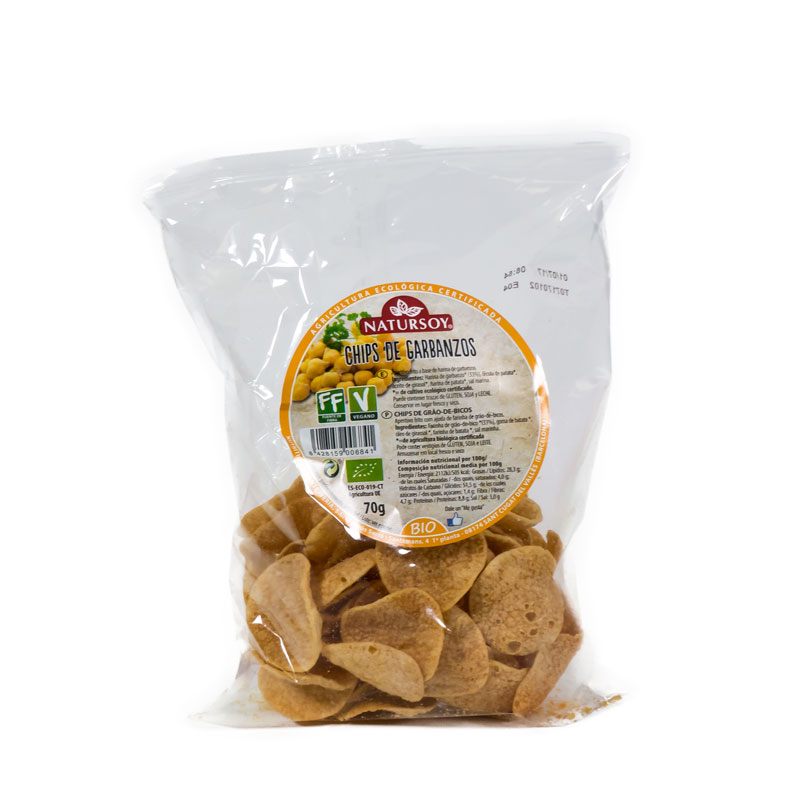 Chips de garbanzos 70 gr. Natursoy