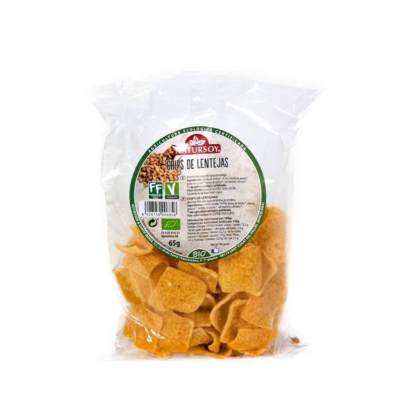 Chips de lentejas 65 gr. Natursoy