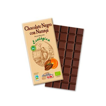 Chocolate negro naranja 100 gr. Sole
