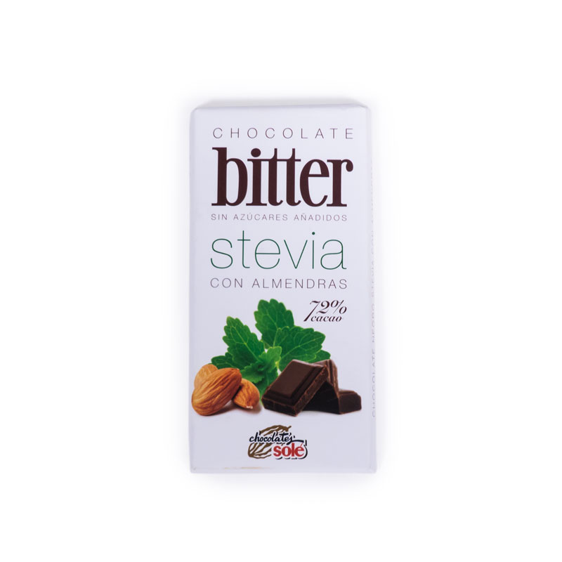 Chocolate stevia con almendras 100 gr. Sole