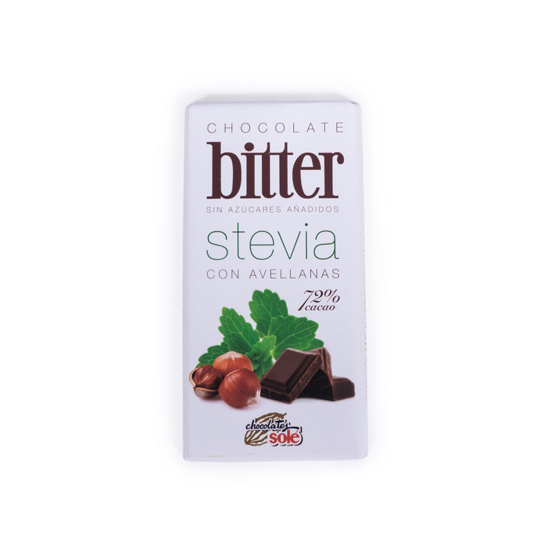 Chocolate stevia con avellanas 100 gr. Sole