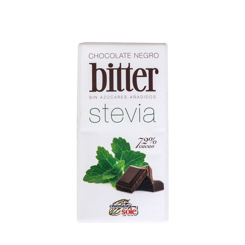 Chocolate stevia negro 100 gr. Sole