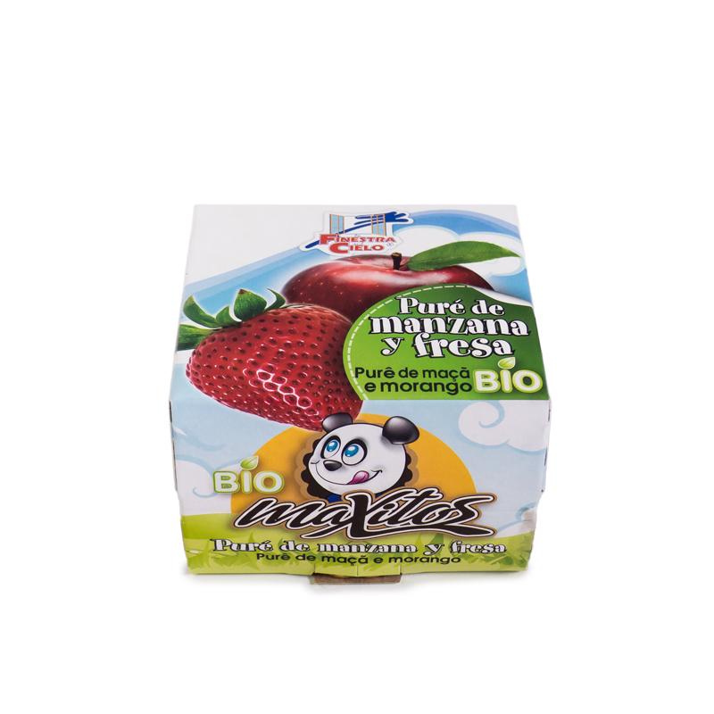 Compota de manzana y fresa 2x100 gr La Finestra
