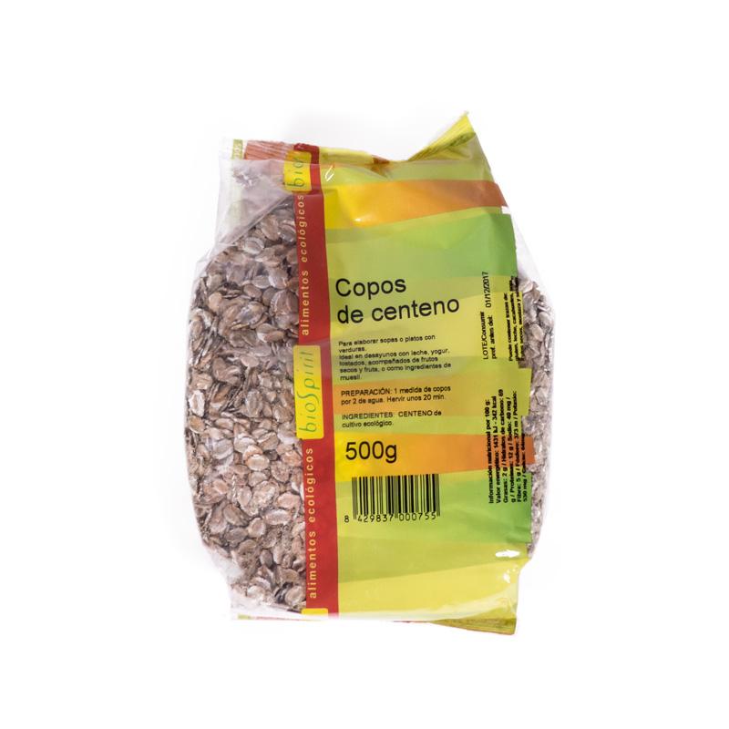 Copos de centeno 500 gr Biospirit