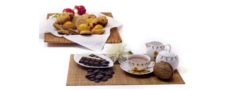 Copos, galletas, mueslis y tortitas