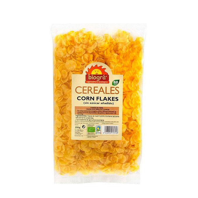 Copos de maiz sin azucar 250gr Biográ