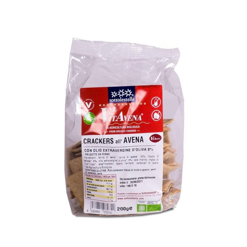 Crackers de avena 200 gr. Sottolestelle