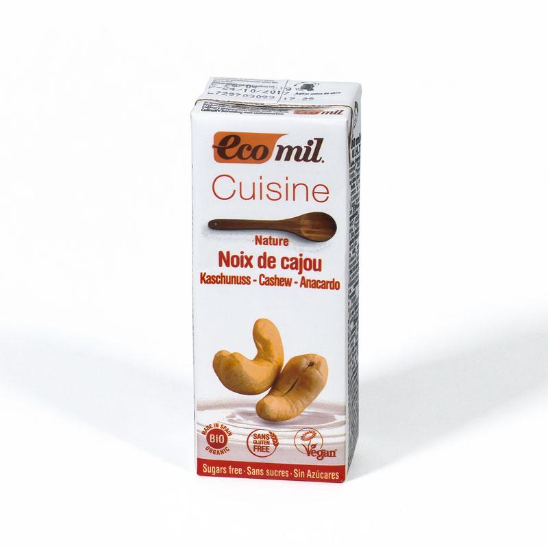 Crema anacardo cocina 200 ml. Ecomil