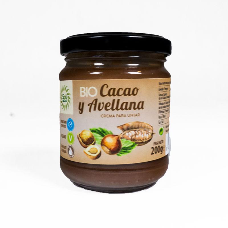 Crema de cacao y avellana 200 gr. Sol Natural