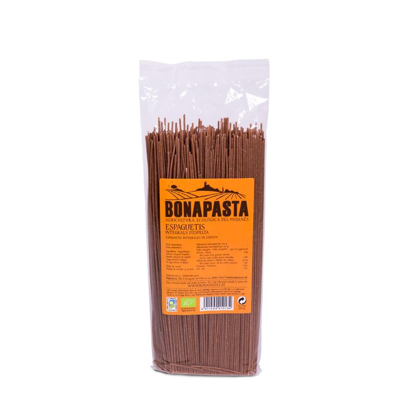 Espaguetis de espelta int. 500gr Bonapasta