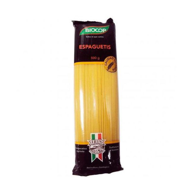 Espaguetis trigo blanco 500gr Iris Biocop