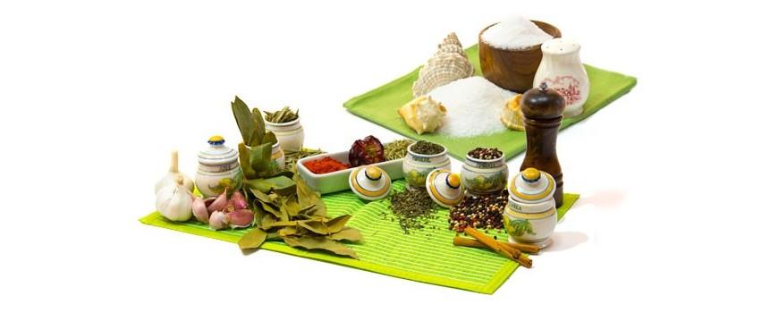 Especias, sal y salsas ecológicas