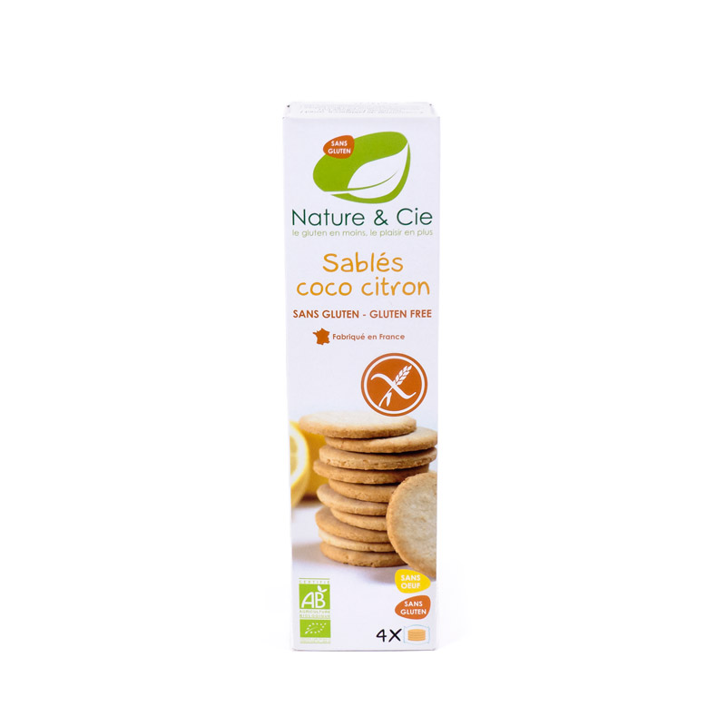 Galleta coco-limon sin gluten 125gr Nature