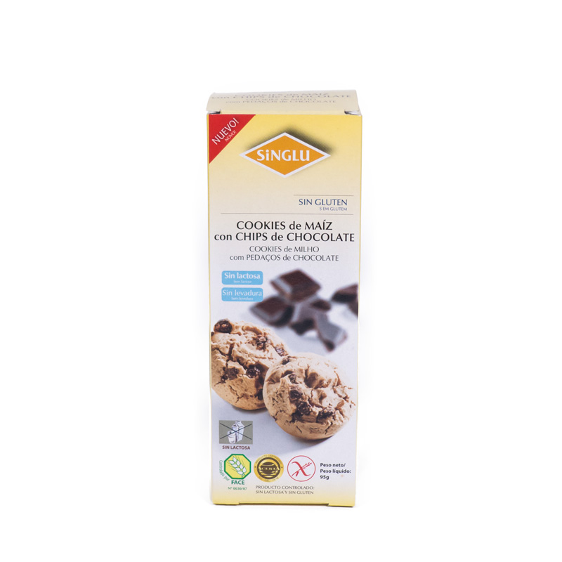 Galleta cookies sin gluten 95 gr. Singlu