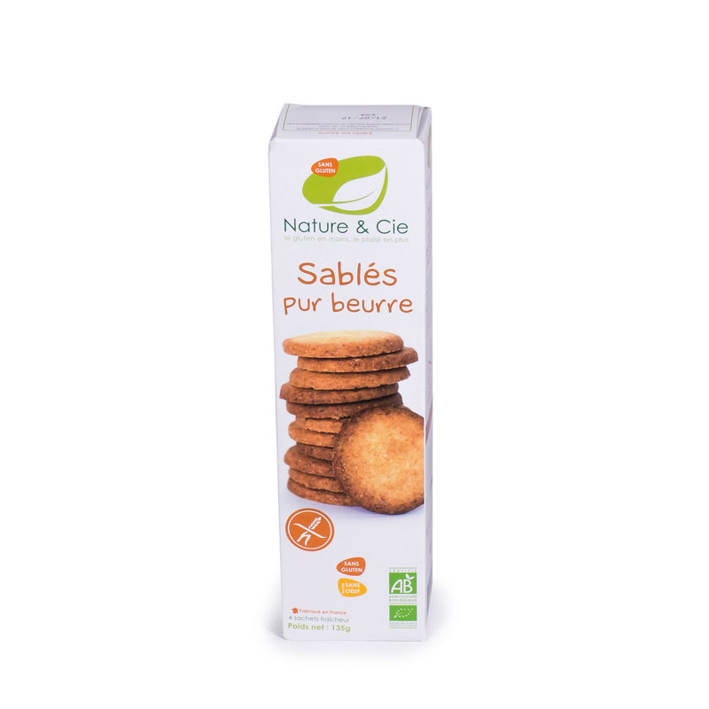 Galleta mantequilla sin gluten 135 gr. Nature