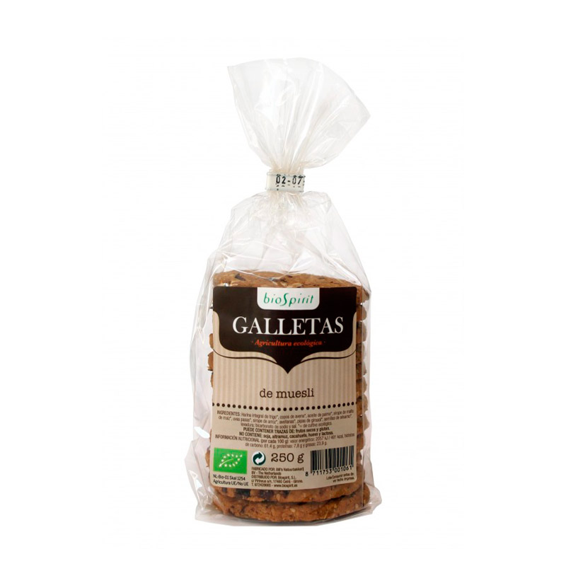 Galletas de muesli 250 gr. Biospirit