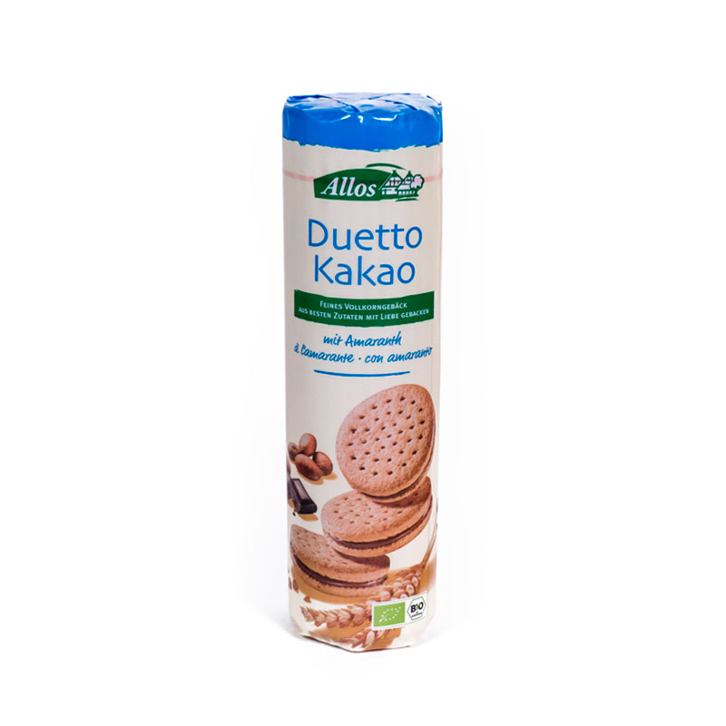 Galletas duetto chocolate con leche 330gr Allos