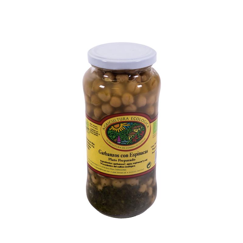 Garbanzos con espinacas 540 gr Bio Goret
