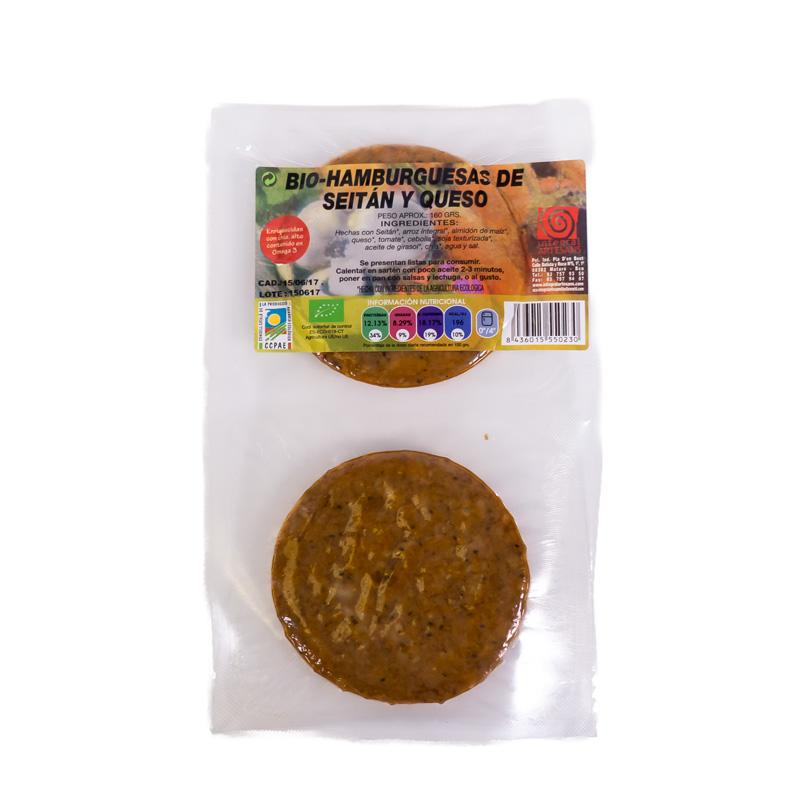 Hamb. seitan y queso 160 gr Artesans