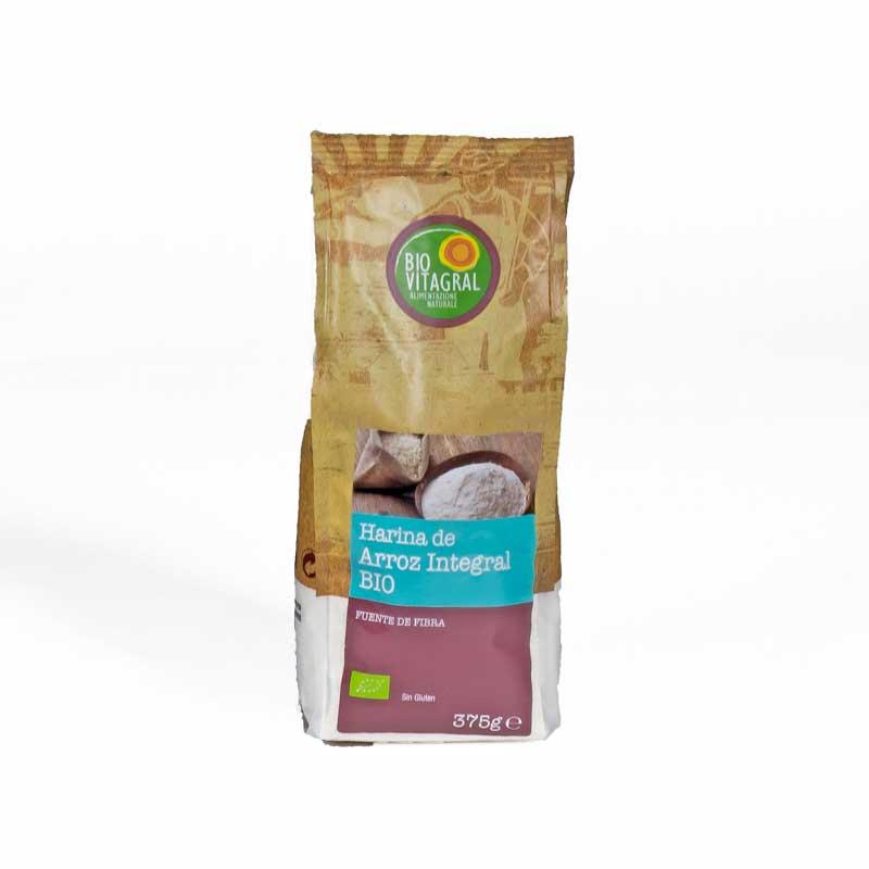 Harina arroz integral 375 gr. Biovitagral