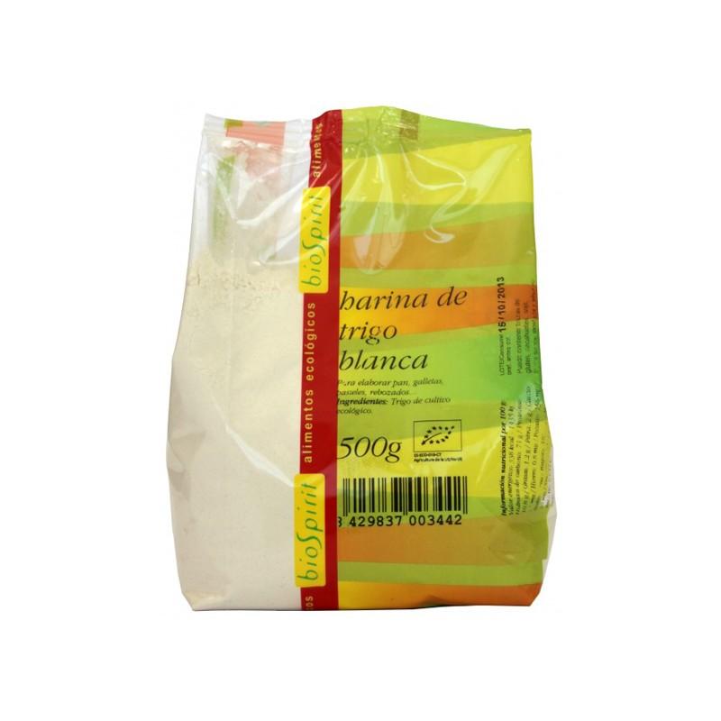 Harina de trigo blanca 500gr Biospirit